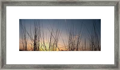 Nachusa Grasslands Sunset Framed Print by Steve Gadomski