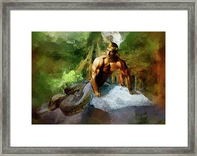 Naga - King Cobra Framed Print by Marcin and Dawid Witukiewicz