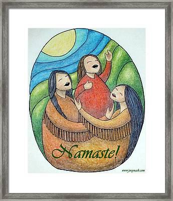 Namaste Framed Print by Joey Nash