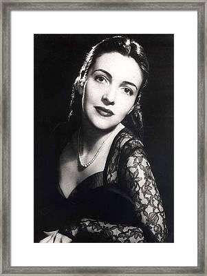 Nancy Davis Reagan In A Portrait Framed Print by Everett