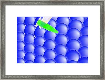 Nano-science, Conceptual Image Framed Print by Gombert, Sigrid