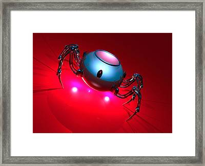 Nanorobot, Conceptual Artwork Framed Print by Victor Habbick Visions