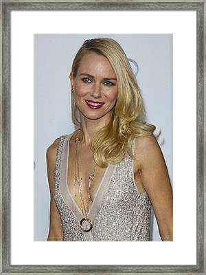 Naomi Watts At Arrivals For Afi Fest Framed Print by Everett