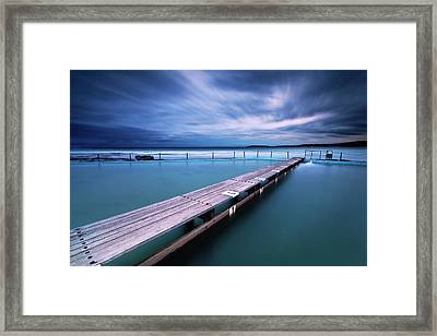 Narrabeen Tidal Pool By Night, Sydney, Australia Framed Print by Yury Prokopenko