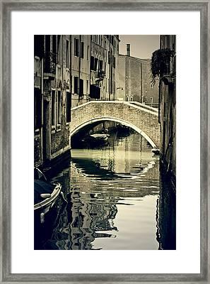 narrow channel with a bridge in Venice Framed Print by Joana Kruse