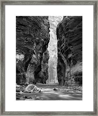 Narrows Of The Virgin River Framed Print by Nathan Mccreery