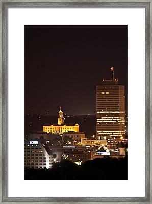 Nashville Cityscape 5 Framed Print by Douglas Barnett