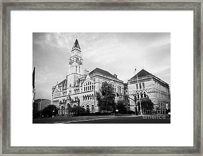 Nashville Customs House Federal Building Broadway Tennessee Usa Framed Print by Joe Fox