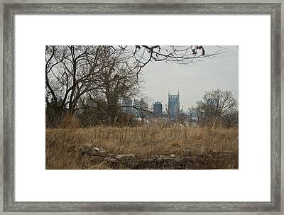 Nashville Skyline From The Fort Framed Print by Douglas Barnett