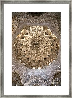 Nasrid Palace Ceiling Framed Print by Jane Rix