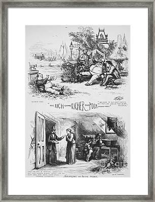 Nast: Tweed Ring Cartoon Framed Print by Granger