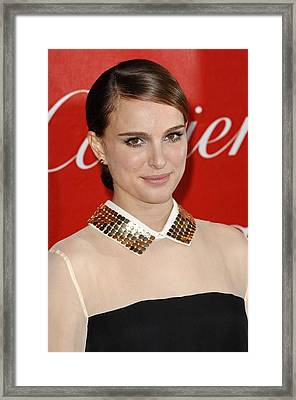 Natalie Portman At Arrivals For 22nd Framed Print by Everett