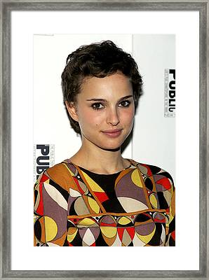 Natalie Portman At The After-party Framed Print by Everett