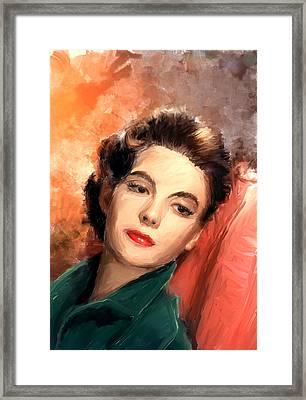 Natalie Wood Framed Print by Scott Melby