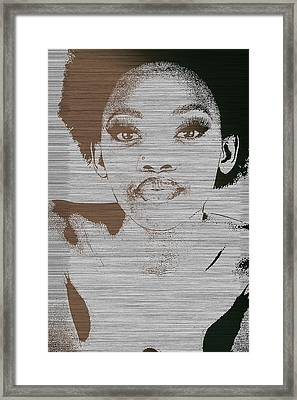 Natasha Brown Framed Print by Naxart Studio