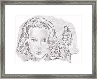 Natasha Romanova- Black Widow Framed Print by Chris  DelVecchio