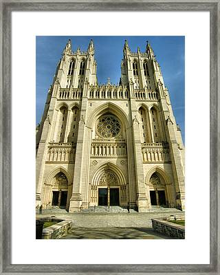 National Cathedral IIi Framed Print by Steven Ainsworth
