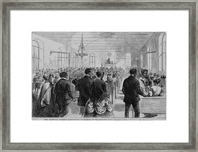 National Convention Of The Colored Men Framed Print by Everett