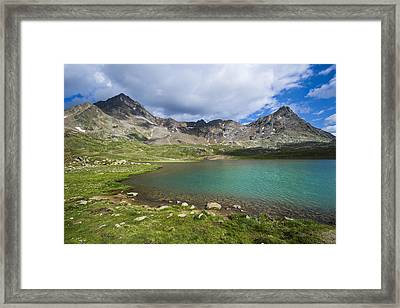 National Park Of The Stelvio, The White Lake Framed Print by Maremagnum