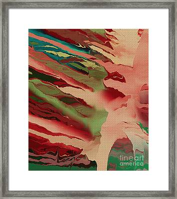 Native Abstract Weave Framed Print by Deborah Benoit