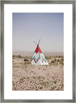 Native American Tipi Replica Framed Print by Paul Edmondson
