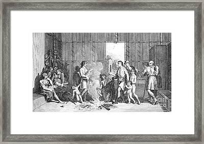 Native Americans: Divorce Ceremony Framed Print by Granger