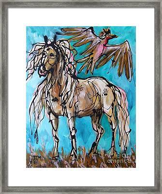 Native Rain Flyer Framed Print by Jonelle T McCoy