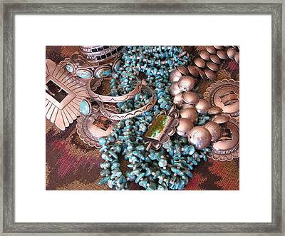 Native Wealth Framed Print by Penny Anast