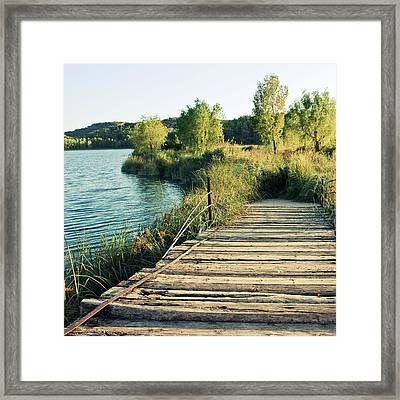 Natural Park Ruidera Framed Print by Maria Jose Valle Fotografia