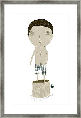 Natural Stripper Framed Print by Luciano Lozano
