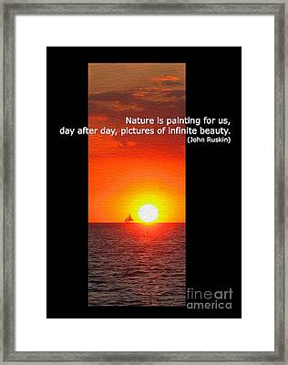 Nature's Painting Framed Print by Judee Stalmack