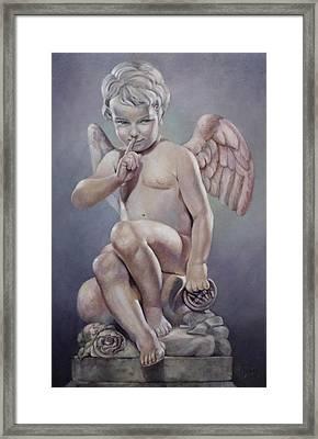 Naughty Cupid Framed Print by Geraldine Arata