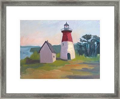 Nauset Lighthouse Cape Cod Framed Print by Suzanne Elliott