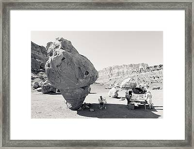Navajo Roadside Store Framed Print by Julie Niemela
