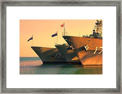 Naval Joint Ops V4 Framed Print by Douglas Barnard