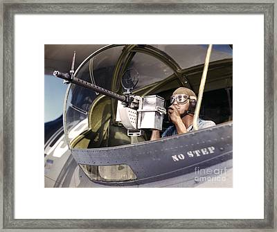 Navy War Bird 30 Calibre Machine Gun Framed Print by Padre Art