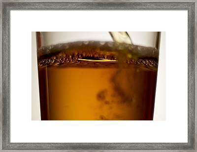 Near Beer Macro Framed Print by Sven Brogren