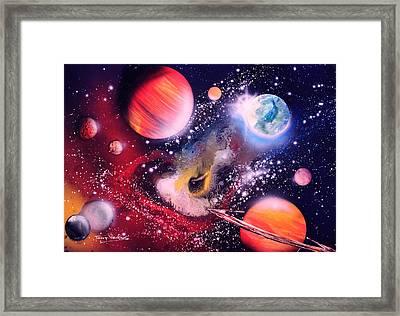 Nebula Guards Framed Print by Tony Vegas