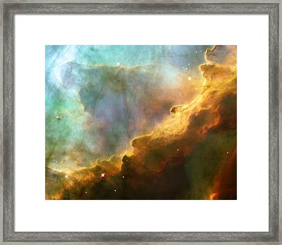 Nebula In M17 Framed Print by Nasaesastscij.hester,asu