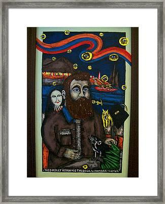 Ned Kelly Befriends The Devil Framed Print by Victor Maloney