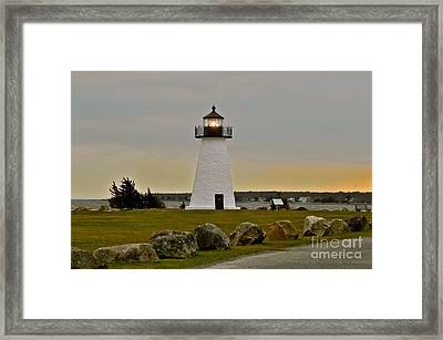 Ned's Point Lighthouse Framed Print by Nick Korstad