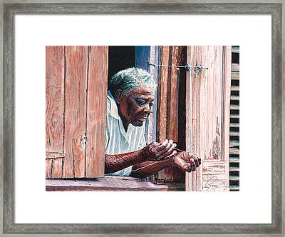 Needle And Thread Framed Print by Gregory Jules