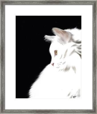 Negative Space Kitty Framed Print by Stacy Parker