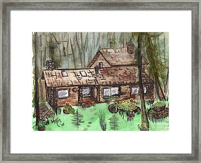 Neighbors Cabin Montana Framed Print by Windy Mountain