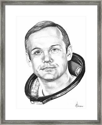 Neil Armstrong Framed Print by Murphy Elliott