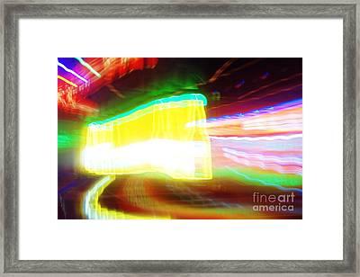 Neon Beer Framed Print by Lynda Dawson-Youngclaus
