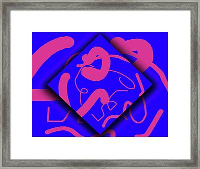 Neon Out Of Bounds Framed Print by Carolyn Marshall