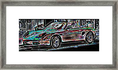 Neon Porsche Framed Print by Samuel Sheats