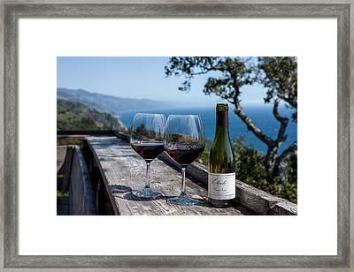 Nepenthe Wine Framed Print by Josh Whalen
