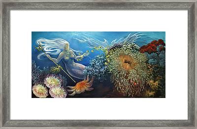 Neptune's Daughter Framed Print by Ann Beeching